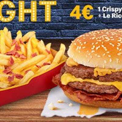1 Crispy a scelta + Le Ricche Cheese&Bacon da McDonal'ds