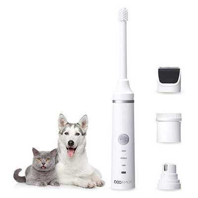 Kit tagliaunghie, spazzolino, tosatrice per cani e gatti Docamor