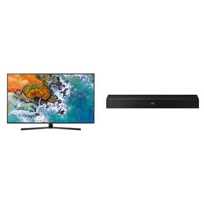 "Samsung Smart TV 4K 55"" + soundbar"