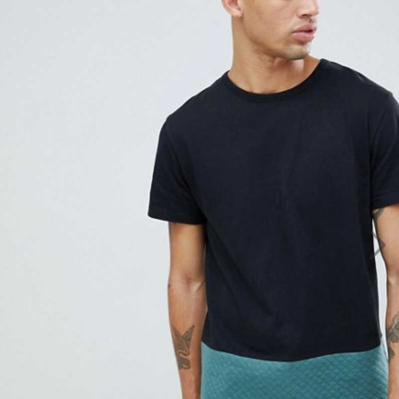 D-Struct - T-shirt trapuntata cut and sew