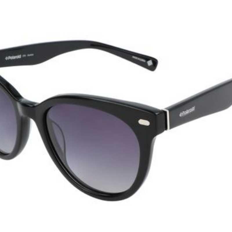 Occhiali Da Sole Donna Polarizzati Ovali Nero 54 mm