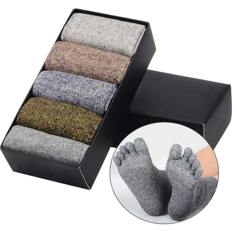 Soumit - 5 paia di calzini con dita separate per uomo