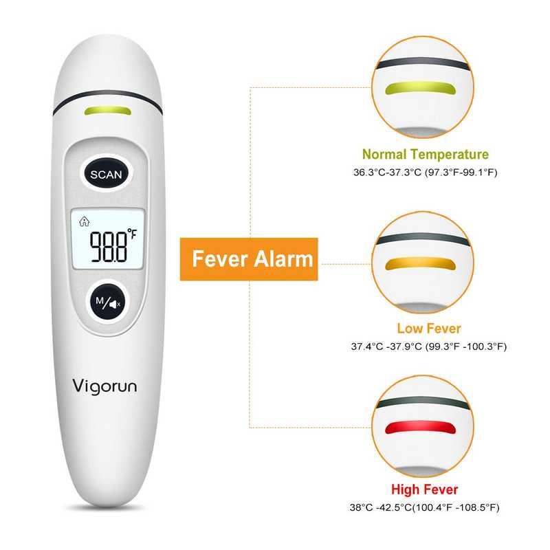 Vigorun Termometro Digitale Infrarossi per Neonati Bambini Adulti