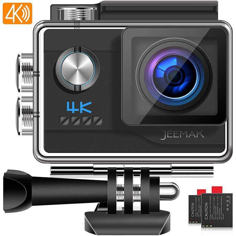 JEEMAK Action Cam 4K WiFi Fotocamera Subacquea Digitale 20MP Ultra HD