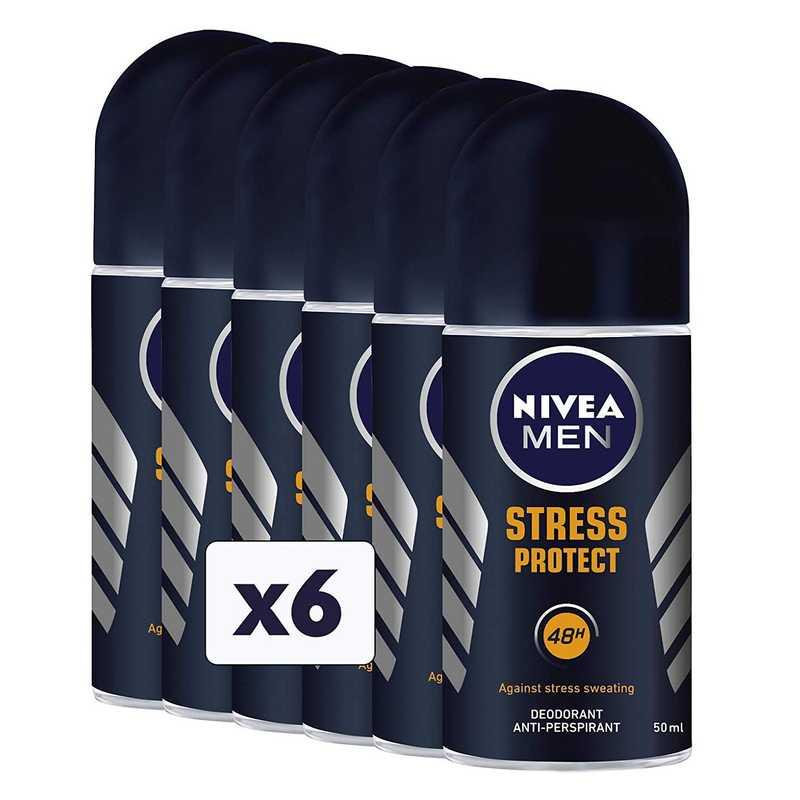Deodorante roll-on nivea, 6 confezioni da 50 ml