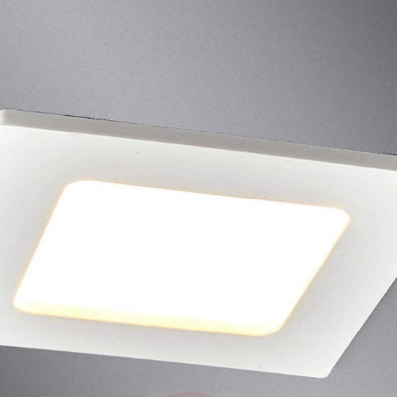 Downlight quadrato bianco LED Feva, 5W